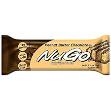 NuGo Protein Bar Peanut Butter Chocolate 176 Ounce Bars Pack Of 15