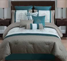Kohls Jennifer Lopez Bedding by Dark Teal Comforter Sets 10 Piece Queen Avalon Taupe Teal Ivory
