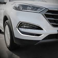 For Hyundai Tucson 2016 2017 2pcs Chrome Car Front Foglight Lamp