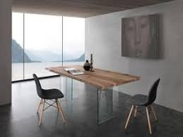 Art 704VE Bio Glass Table With Legs Top In Solid Ash