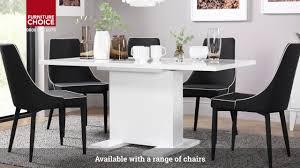100 White Gloss Extending Dining Table And Chairs Osaka High By Furniture Choice