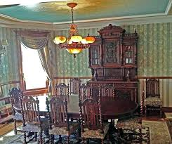 Victorian Dining Room Chandeliers Furniture With Wooden Table And