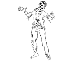 Unique Zombie Coloring Page 86 On For Kids With