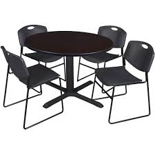 Cain 48'' Round Laminate Breakroom Table With 4 Zeng Stack Chairs - Walnut  Table Finish And Black Chairs Chairs And Tables The Home Of Truth Stack On Table Clipart Free Clip Art Images 21722 Kee Square Chrome Breakroom 4 Restaurant The 50 From Restoration Hdware New York Times Kobe 72w X 24d Flip Top Laminate Mobile Traing With 2 M Cherry Finish And Burgundy Lifetime 5piece Blue White Childrens Chair Set 80553 Lanzavecchia Wai Collection Includes Hamburger Tables Starsky Stack Table Rattan Of 3 45 Round Adjustable Plastic Activity School