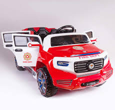 100 Kids Electric Truck Amazoncom 4Door Ride On Two Seater Fire Toy Car