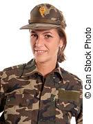 Female Soldier Salute Saluting Against A Stock