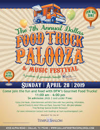 100 Dallas Food Trucks Truck Palooza Temple Shalom