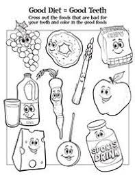 Healthy Foods Coloring Sheet