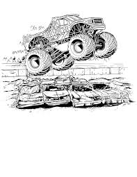 Truck Coloring Pages Gallery Website Monster Jam Book