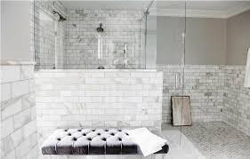 marble white subway tile bathroom optimizing home decor ideas