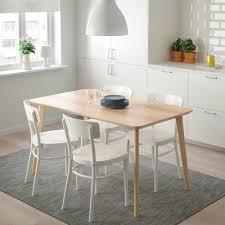 lisabo idolf table and 4 chairs ash veneer white ikea