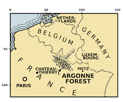 Where Did The Lusitania Sunk Map by Battle Of The Argonne Forest 1918 The Casualties Recorded By