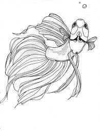 Betta Drawing Would Make A Great Tattoo