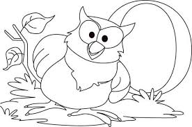 Owl Big Coloring Page PageFull Size Image