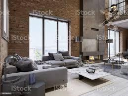 moderne vintage loftwohnungwohnzimmer stockfoto und mehr bilder architektur
