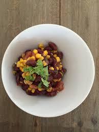 cuisine coriandre salade haricots rouges maïs tomates et coriandre et sa