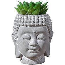 mini sukkulenten künstliche pflanzen töpfe buddha kopf 11 9 cm heimbüro badezimmer dekoration
