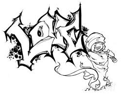New Graffiti Art Love And Character Graffiti Sketch