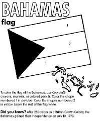 Bahamas Coloring Page