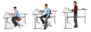 tables izzy rylee bluecony bureaux ergonomiques réglables en