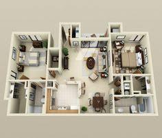 appartement deux chambres 50 plans 3d d appartement avec 2 chambres architecture house and