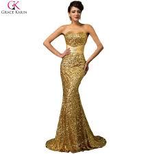 online get cheap black and gold long prom dress aliexpress com
