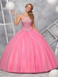 beaded illusion quinceanera dress by q by davinci style 80352