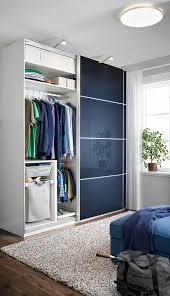 hokksund schiebetürpaar hochglanz schwarzblau 200x236 cm