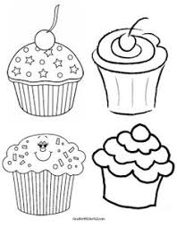 Different Black And White Clipart Cupcakes For Our Bday Graph More