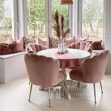 moderner rosa stuhl für toilette konsole oder esszimmer shell