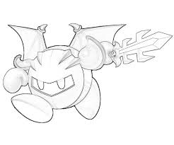 Printable Meta Knight Dragon Coloring Pages 3