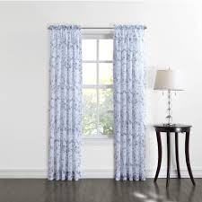 Blue Crushed Voile Curtains by Goods For Life Gardner Sheer Voile Window Curtain