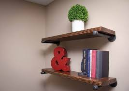 Storage Organization Rustic Floating Shelf For Book