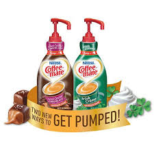 Coffee Mate Salted Caramel Chocolate And Irish Creme Liquid Creamer Pump Bottles