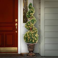 6ft Lighted Spiral Christmas Tree by Porch U0026 Potted Christmas Trees Artificial Christmas Trees The