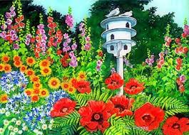 Bird Seasons Country Poppies Dreams Beautiful Gardens Paintings Summer Stunning Attractions Love Dove Lovely Creative Four