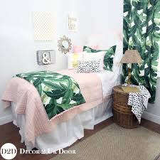 Interesting Pretty Pink Paradise Perfect For Dorm Room Preppy Palm Leaf U Pastel Designer With Rooms