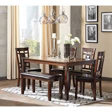 Dining Table Set Walmart by Signature Design By Ashley Bennox 6 Piece Dining Table Set