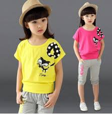 2017 New Design Girl Clothing Set Short T Shirt Pants Kid Cartoon Pattern Children Vest Summer Syle In Sets From Mother