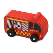 100 Fire Trucks Toys Wood Works Traditionally Crafted Chunky Toy Emergency Vehicle
