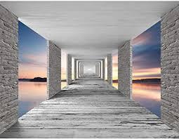runa fototapete 3d meer sonnenuntergang modern vlies wohnzimmer schlafzimmer flur made in germany grau blau orange 9157010b