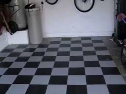 armstrong garage floor black and gray checker vct tile