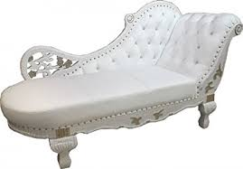 casa chaise longue casa padrino baroque chaise white gold leather chaise lonque