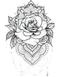 Heart And Rose Coloring Pages Printable Roses Page Elegant