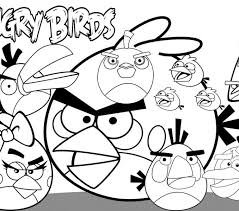 Free Coloring Pages Angry Birds Go
