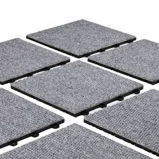 premium gray interlocking carpet tiles for basement flooring