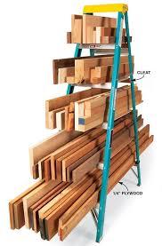 ladder lumber rack lumber rack organizing and board