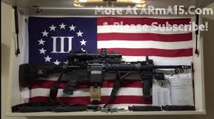 Diy Hidden Gun Cabinet Plans by Ar15 Hidden On Arma15 Wall Mount Rack Usa Flag Diy Design Youtube