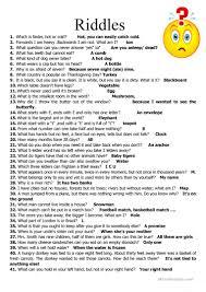 59 Riddles worksheet Free ESL printable worksheets made by teachers