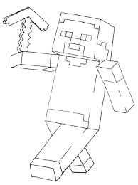 Minecraft Coloring Pages 9956 Gallery Of Steve 12 0 Diamond Armor